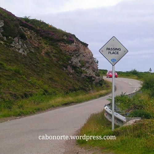 Passing place en Escocia