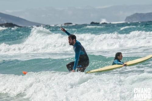 Primer contacto con las olas